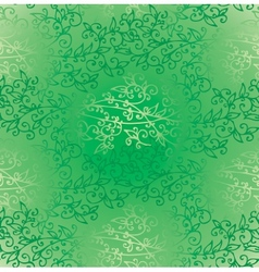 Floral Green Verdure Springtime seamless pattern vector image