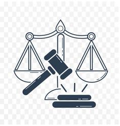 icon social justice vector image
