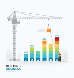 Infographic business graph template design vector image vector image