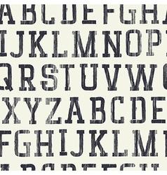 Seamless background Alphabet grunge Serif upper vector image