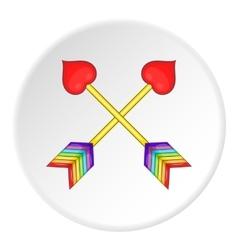 Two arrows LGBT icon cartoon style vector image