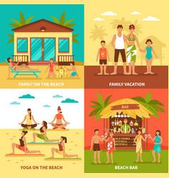 beach holiday design concept vector image
