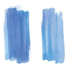 Blue watercolor background banner for your design vector image