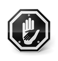 Helping hand metal sign vector image vector image