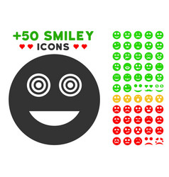 Mad smiley icon with bonus mood clipart vector