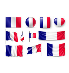 set france flags banners banners symbols flat vector image vector image
