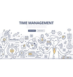 Time Management Doodle Concept vector image vector image