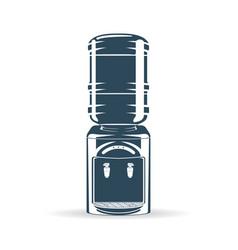 water bottle cooler blue vector image