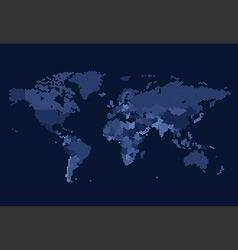 worldmap dotted country hexagon blue vector image