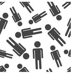 men seamless pattern background business flat vector image