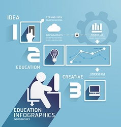 Modern Design Education infographic paper cut vector image vector image