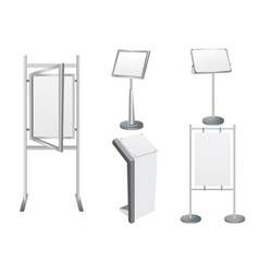 Promotion Display Stand vector image