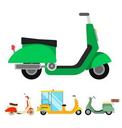 retro vespa scooter motorcycle travel vector image
