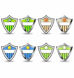 sport shields set vector image