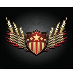 Vintage race emblem vector