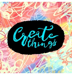 Create things vector image vector image
