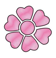 drawing sakura flower japan natural season image vector image vector image