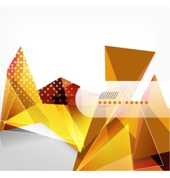 Glossy glass geometric shape background vector