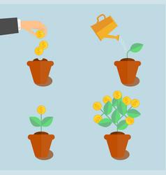 growing money tree vector image vector image