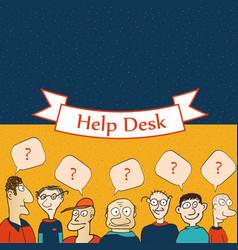 Help desk board vector