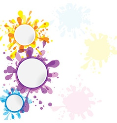 set of banner template ink cute element for design vector image vector image