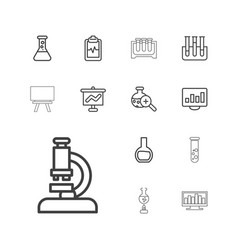 13 analysis icons vector