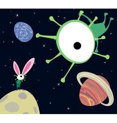 aliens celebrating vector image