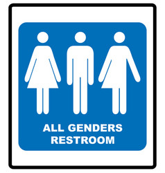 All gender restroom sign male female transgender vector