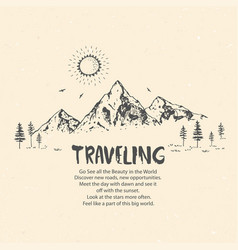 amazing mountains travel vector image