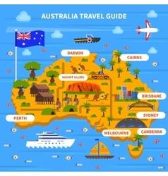 Australia Travel Guide vector