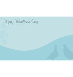 Background of two dove valentine cards vector
