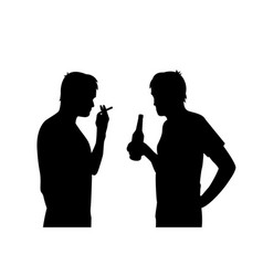 bad habits smoking and alcoholism vector image