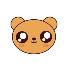 Bear kawaii cute animal icon vector