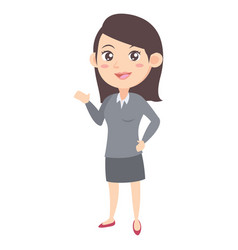 business women character cartoon vector image