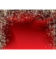 Christmas red star vector image vector image
