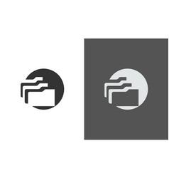 Circle data icon logo vector