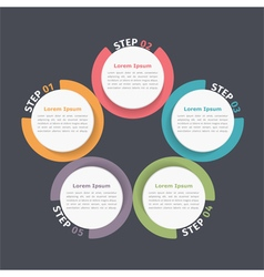 Circle Diagram Five Elements vector