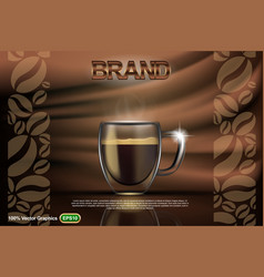 coffee mock up vector image