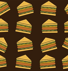 delicious sandwich theme vector image