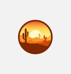 Desert logo design vector
