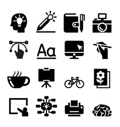 Designer icon set vector