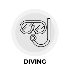 Diving Line Icon vector image