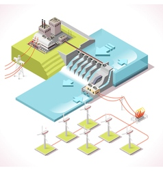 Energy 15 Infographic Isometric vector