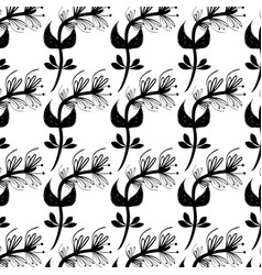 flowers branches background decoration design vector image