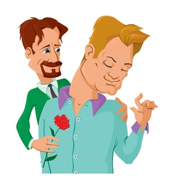gays couple vector image