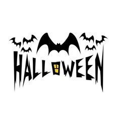 halloween with bats vector image