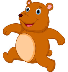 happy brown bear cartoon vector image vector image