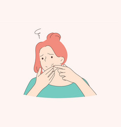 Health care skin examination frustration vector