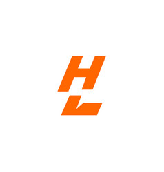 hl-initial-electric-negative-space-logotype-mark vector image