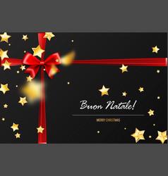 holiday christmas red gift silk bow vector image